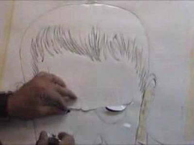 Pintando Frankenstein Textil - Aerografia Parte 1