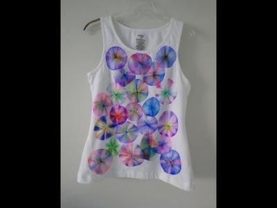 Pintar tu ropa vieja con plumones sharpie y alcohol¡¡ dale color a tu ropa blanca