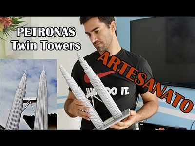 Presente Criativo Para Namorada - Edifícil Petronas Twin Towers de Palitos Artesanato Elton donadon