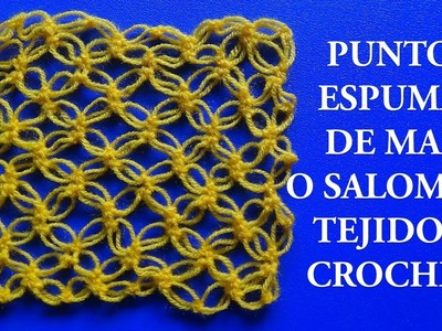 Punto a Crochet # 1: punto espuma de mar o punto salomon - points crocheted