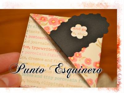 Punto de libro Esquinero -Paso a paso(DIY)  |Scrapbooking