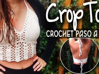 Top Crop - Tejido en crochet Paso a Paso