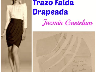 Trazo Falda Drapeada En La Cintura  DIY- How To Make a Skirt