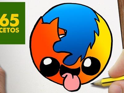 COMO DIBUJAR LOGO FIREFOX KAWAII PASO A PASO - Dibujos kawaii faciles - How to draw a Logo Firefox