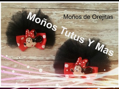 Como hacer OREJITAS DE MINNIE en Tul paso a paso MINNIE MOUSE EARS Tutorial DIY How To