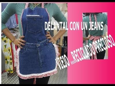 Como hacer un delantal con un Jeans viejo DIY
