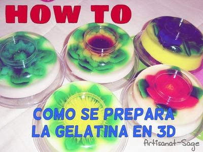 Como se prepara la gelatina en 3D.mezcla. How to-DIY