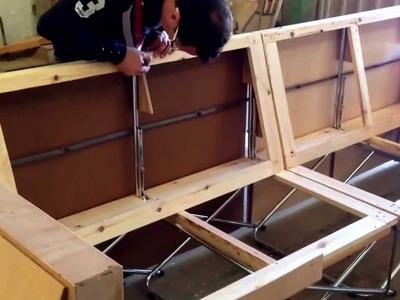 Diseñando la estructura y bastidor de un sofá SOFOLD de 4 plazas con chais longue