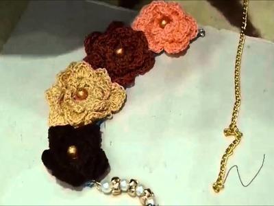 DIY Collar de Flores y Perlas