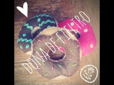 Donut Plushie - Dona de Fieltro