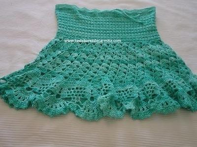Falda Crochet  ganchillo paso a paso parte 1
