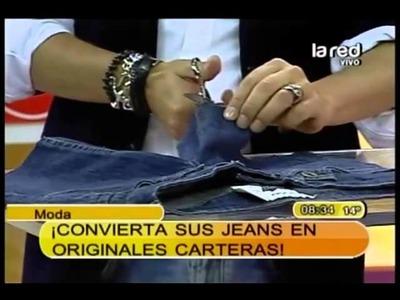 Fred Redondo nos enseña en 3 pasos a transformar un jeans en una cartera  (Parte 1)