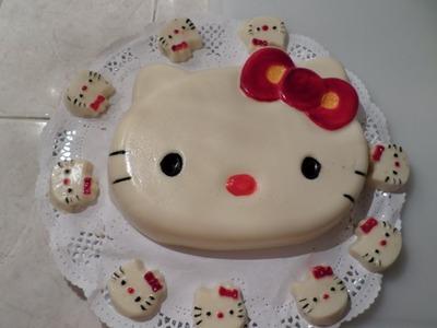 Gelatina Piña Colada Kitty