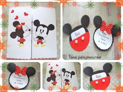 Invitación Mickey y Minnie Mouse