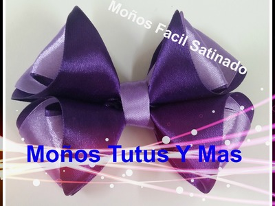 Paso a Paso Moño Mil Face Liston Satinado pap SATIN RIBBON BOW Tutorial DIY