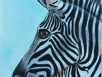 Pintar Cuadros - Pintar Cebra  - Pintar en Acrilico -