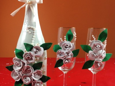 Sencilla decoración botella para bodas Simple bottle decoration for weddings