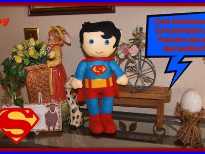 SUPERMAN EN FIELTRO TUTORIAL