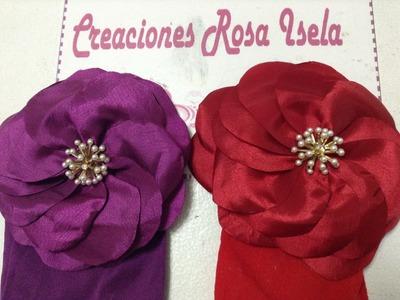 Tiara con flor de tela muy fácil y elegante VIDEO No. 184