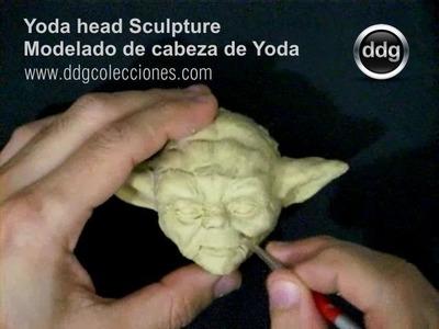 Yoda Star Wars, boceto de cabeza escultura por DDG