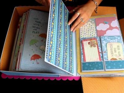 Álbum Cajita Scrapbooking Sky the limit Bellaluna Crafts Tienda Materiales de Scrapbooking