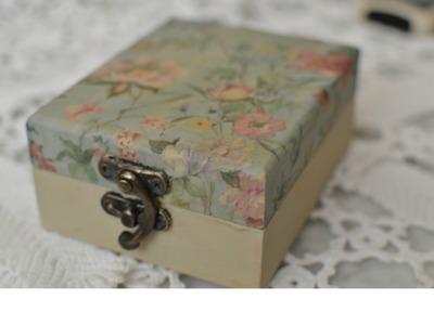 Caja de madera decorada DECOUPAGE  *paso a paso (servilletas decoradas)