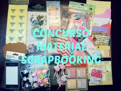 """CERRADO-material scrapbooking- concurso- """"ya somos 200"""" agradecimiento"""