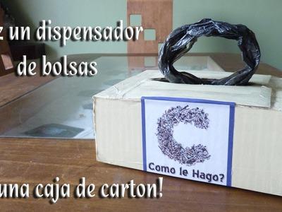 Como hacer un dispensador de bolsas con una caja