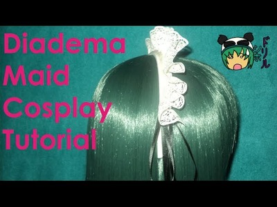 Diadema Cosplay de Maid muy facil de hacer x3