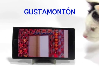 #DIY: ¡INCREIBLE lo que se puede hacer con tarjetas plásticas!. #Mobile phone holder.