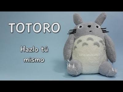 DIY Totoro de peluche con moldes GRATIS