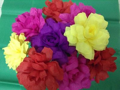 Flores de papel crepe para DÍA DE MUERTOS VIDEO No. 192