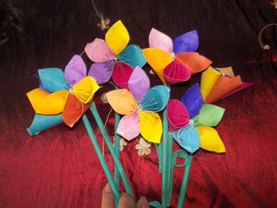 Flores de papel facil