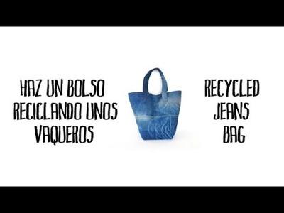 Haz un bolso reciclando unos vaqueros - Recycled jeans bag