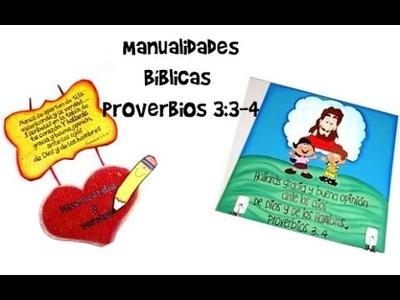 Manualidades Bíblicas. Proverbios 3:3-4. dos manualidades