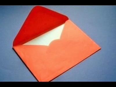 Origami Sobre - Como hacer Sobre Origami ideal para carta de San Valentin