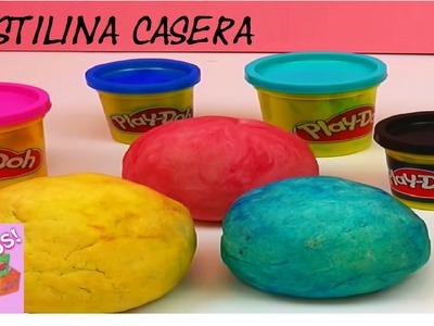 PLASTILINA CASERA TIPO PLAY-DOH - PLASTILINA HECHA EN CASA - PLAY DOH - EN ESPAÑOL