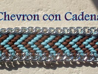 Pulsera de Hilo: Chevron con Cadena es.PandaHall.com