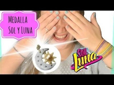 SOY LUNA-MEDALLA SOL Y LUNA. SUN AND MOON NECKLACE
