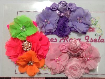 Tiaras glamorosas  de flores y perlas VIDEO 240