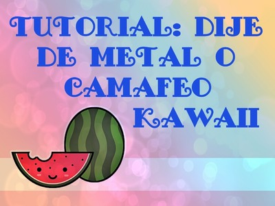 Tutorial: Dije de metal. Camafeo