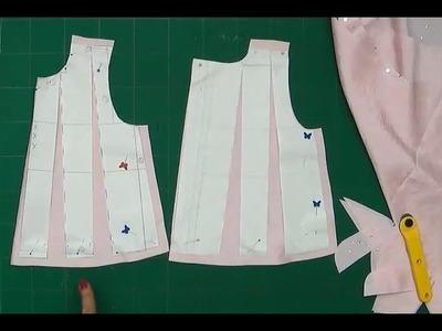 Alta Costura para NIÑOS clase # 49 cortar el vestido para bebe