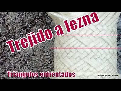 """Cabo Tejido a Lezna """"Trama Triángulos enfrentados"""" """"El Rincón del Soguero"""""""