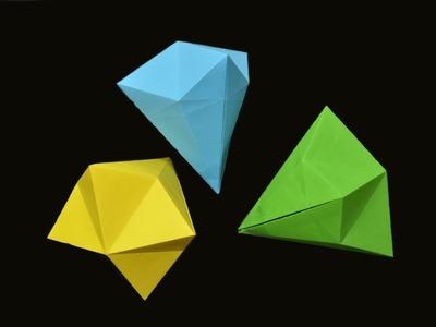 Como hacer un diamante de papel