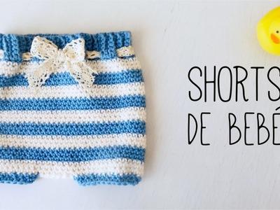 Cómo tejer CUBREPAÑAL. SHORTS de bebé a crochet - (ENGLISH SUBS) TUTORIAL PASO A PASO