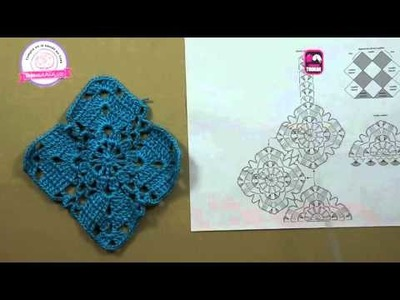 Cómo tejer una blusa en cuadros con flor