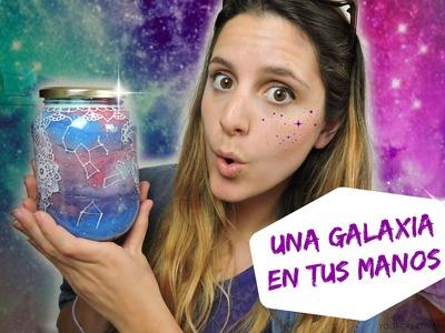 DIY bote galaxia y zentangle art - DIY Galaxy bottle and zentangle art
