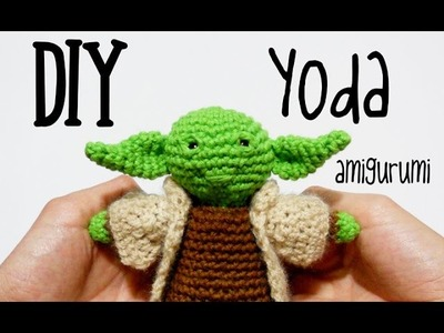 DIY Yoda Star Wars amigurumi crochet.ganchillo (tutorial)