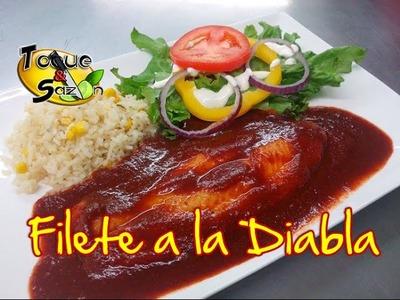 """Filete de Pescado a la Diabla """"paso a paso"""" (TOQUE Y SAZÓN) Receta de Filete a la Diabla"""