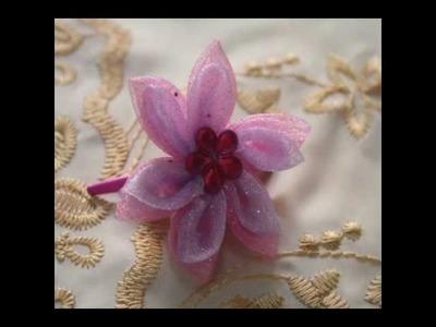 Flores de kanzashi